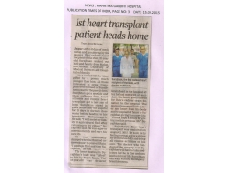 1st heart transplant patient heads home